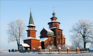 Vista invernale della Chiesa