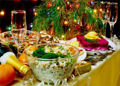 La cena di capodanno dei russi