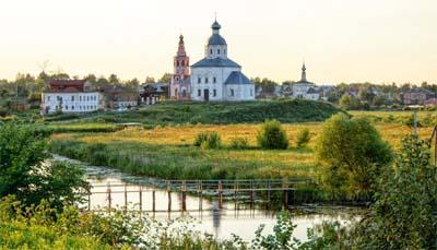 La città Suzdal nella Regione di Vladimir