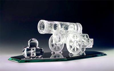 Il cristallo d'arte della città di Gus Khrustalnij.