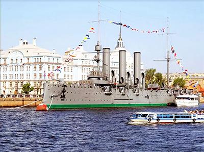 """Il leggendario incrociatore russo """"Aurora"""""""