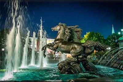 Apertura delle fontane storiche di Mosca