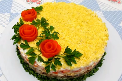 Cucina Russa: Mimosa, insalata russa di pesce